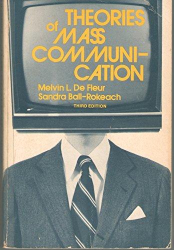 9780679302933: Theories of Mass Communication
