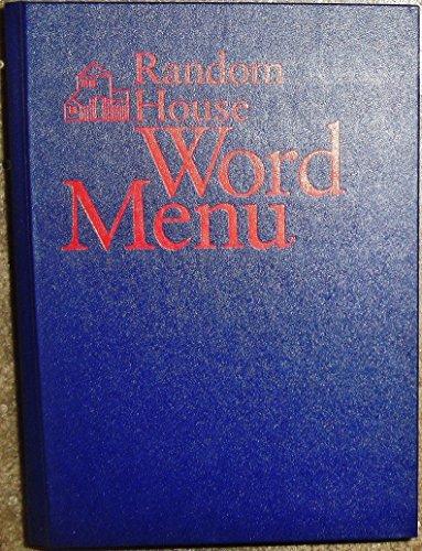 9780679400301: Random House Word Menu: New and Essential Companion to the Dictionary