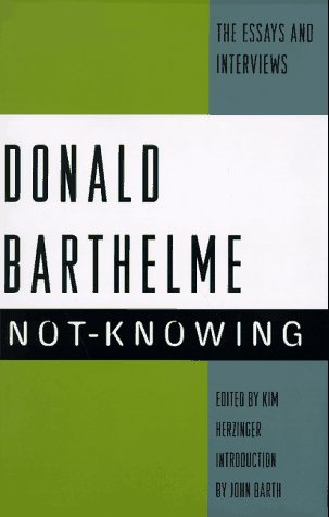9780679409830: Not-Knowing: The Essays and Interviews