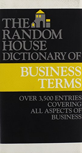 9780679413691: The Random House Dictionary of Business Terms