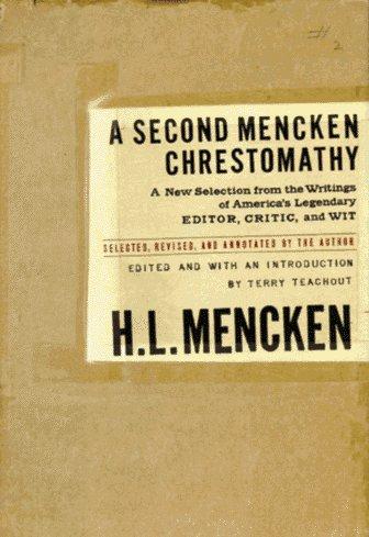 9780679428299: A Second Mencken Chrestomathy