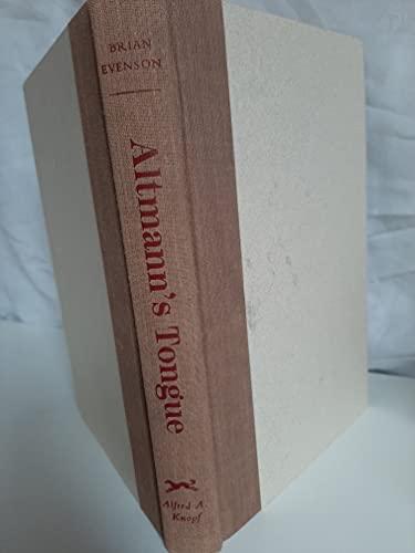 9780679429128: Altmann's Tongue: Stories and novella