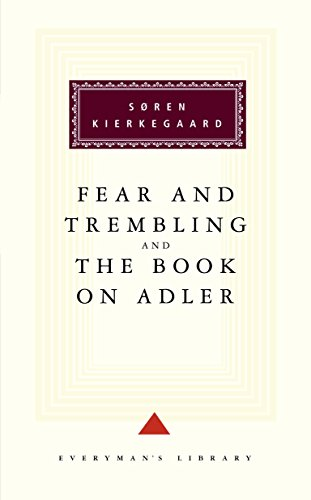 9780679431305: Fear and Trembling and The Book on Adler (Everyman's Library)