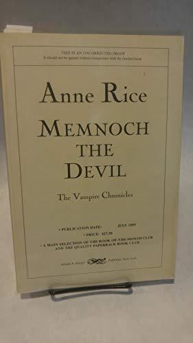 9780679441014: Memnoch the Devil (Vampire Chronicles)