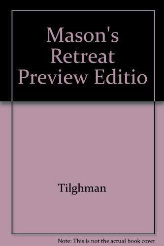 Mason's Retreat Preview Editio: TILGHMAN, CHRISTOPHER