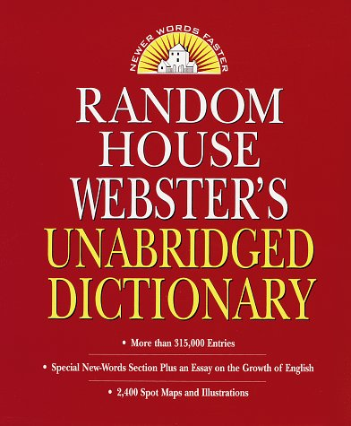 9780679458548: Random House Webster's Unabridged Dictionary : Indexed