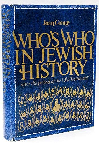 9780679504559: Who's who in Jewish history;: After the period of the Old Testament