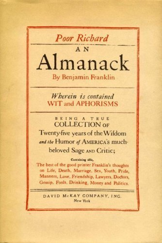 Poor Richard Almanack Wherein is Contained Wit and Aphorisms