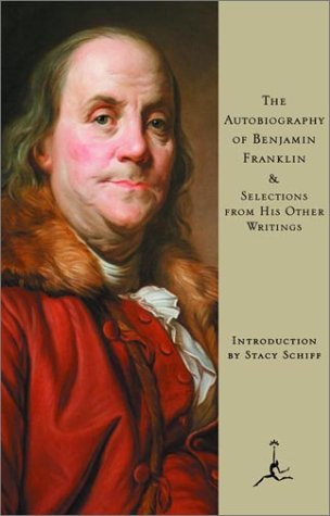 9780679641032: The Autobiography of Benjamin Franklin, & Selections from His Other Writings (Modern Library)