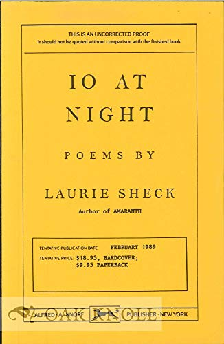 10 At Night: Poems: Sheck, Laurie