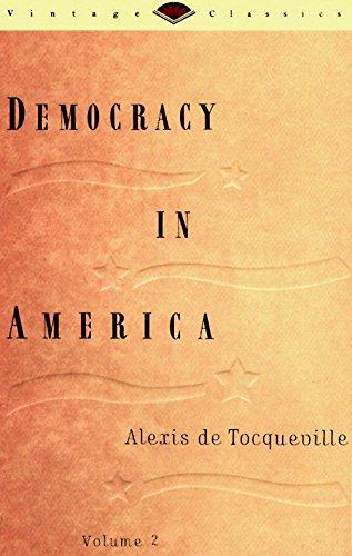 9780679728269: Democracy in America, Volume 2 (Vintage Classics)