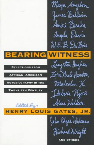 9780679735205: Bearing Witness: Selections from African-American Autogiobraphy in the Twentieth Century