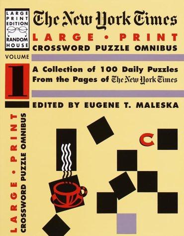 9780679751441: 001: The New York Times Large Type Crossword Puzzle Omnibus, Volume I