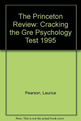 9780679753643: PR GRE PHYSCOLOGY 1995