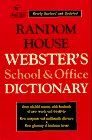 Random House Webster's School and Office Dictionary (0679761586) by Random House