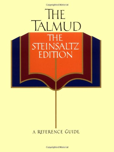 9780679773672: The Talmud, The Steinsaltz Edition: A Reference Guide