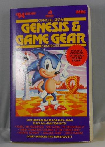 9780679790020: The Official Sega Genesis Game Gear Strategies