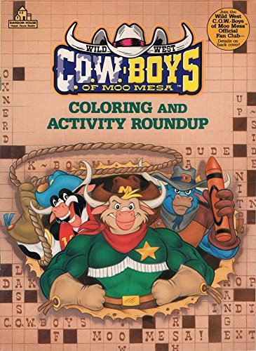 9780679834250: Wild West C.O.W. - Boys of Moo Mesa: Coloring and Activity Roundup Book