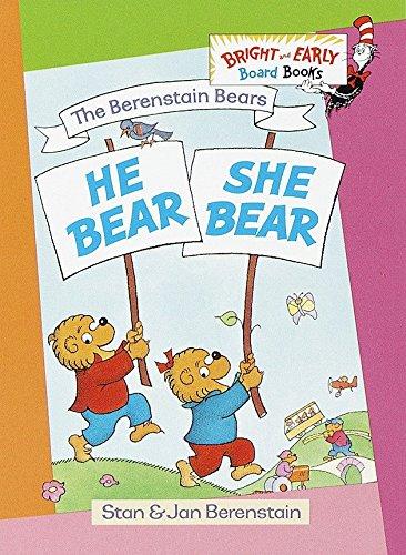 9780679894261: He Bear, She Bear (Bright & Early Board Books)