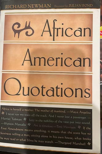 9780681289413: African-American Quotations