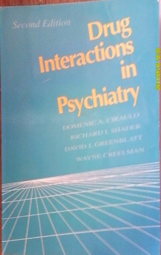9780683019438: Drug Interactions in Psychiatry