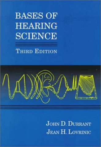 9780683027372: Bases of Hearing Science