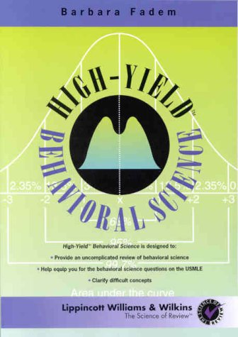 9780683029406: High-Yield Behavioral Science (High-Yield Series)