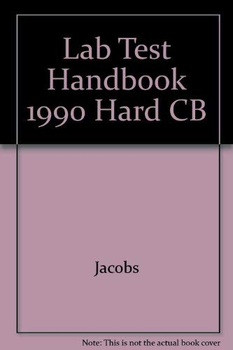 Lab Test Handbook 1990 Hard CB: Jacobs
