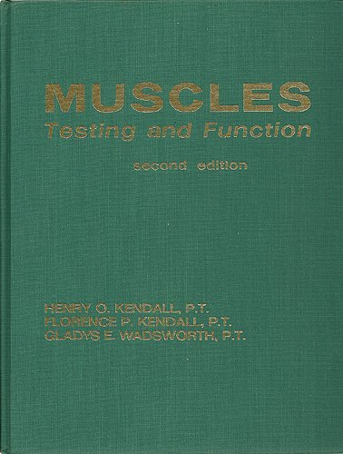Muscles, Testing and Function: Henry Otis Kendall,
