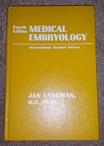 9780683048582: Medical Embryology