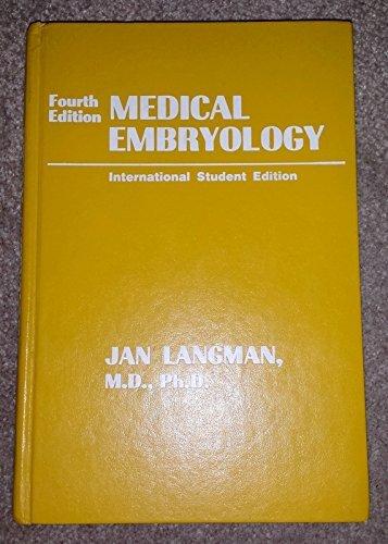 9780683048582: Medical Embryology