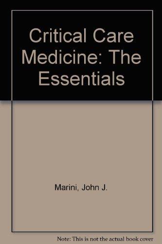 9780683055542: Critical Care Medicine: The Essentials