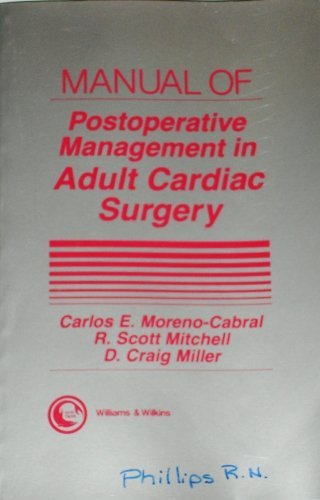 9780683061468: Manual of Postoperative Management in Adult Cardiac Surgery