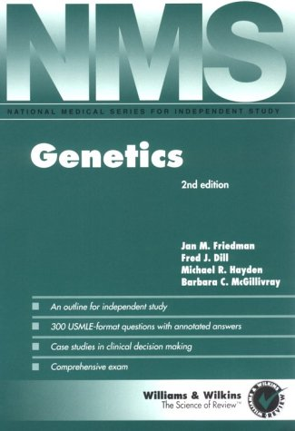 9780683062175: Genetics (National Medical Series for Independent Study)
