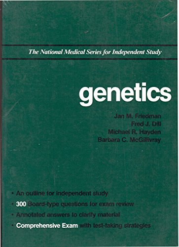 9780683062182: Genetics (National Medical Series for Independent Study)