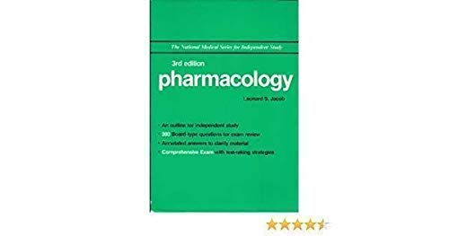 9780683062502: Pharmacology (The National Medical Series for Independent Study)