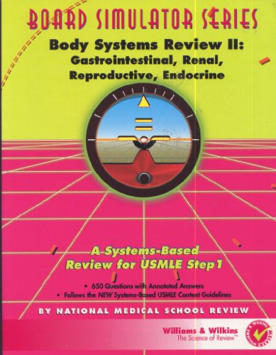Body Systems Review II: Gastrointestinal, Renal, Reproductive,: National Medical School