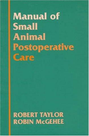 9780683081251: Manual of Small Animal Postoperative Care
