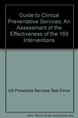 9780683085075: Guide to Clinical Preventive Services: An Assessment of the Effectiveness of 169 Interventions