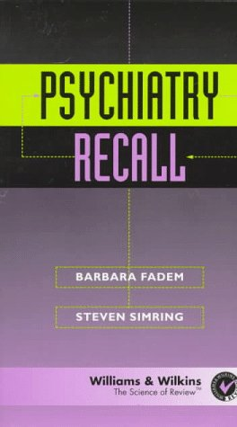 9780683180046: Psychiatry Recall (Recall Series)