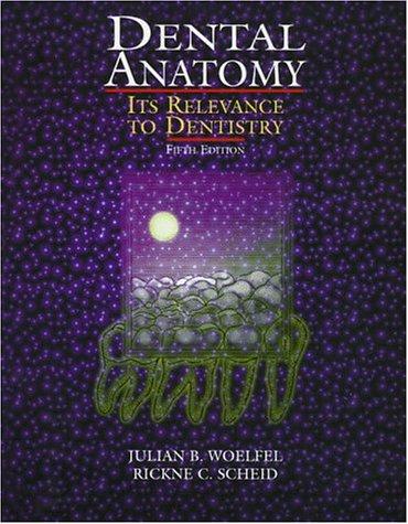 Dental Anatomy: Its Relevance to Dentistry: Julian B. Woelfel,