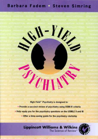 9780683302035: High-Yield Psychiatry