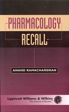 9780683302851: Pharmacology Recall (Recall Series)