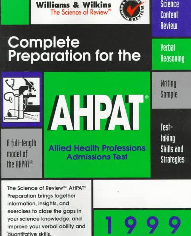 9780683305548: Complete Preparation for the AHPAT: Allied Health Professions Admission Test