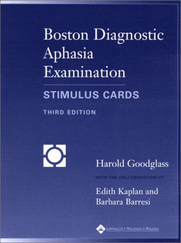 9780683305609: Boston Diagnostic Aphasia Examination: Stimulus Cards
