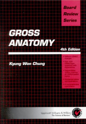 0683307274 - Brs Gross Anatomy Board Review Series by Kyung Won ...