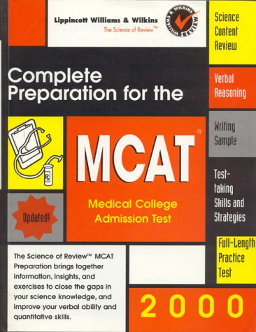 9780683307795: Complete Preparation for the MCAT 2000: Medical College Admissions Test (Science of Review)