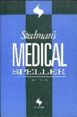 9780683400236: Stedman's Medical Speller Words (Stedman's Word Books)