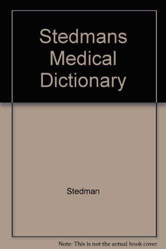 9780683400762: Stedman's Medical Dictionary