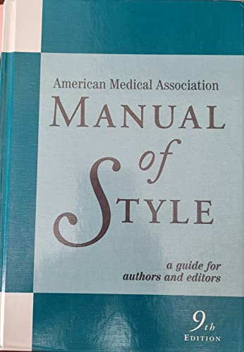 9780683402063: American Medical Association Manual of Style : A Guide for Authors and Editors (AMA)